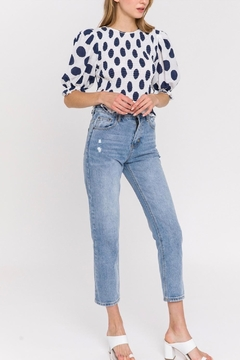 La Ven Polka Dot Blouse - Alternate List Image