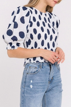La Ven Polka Dot Blouse - Product List Image