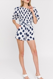 La Ven Polka Dot Shorts - Back cropped