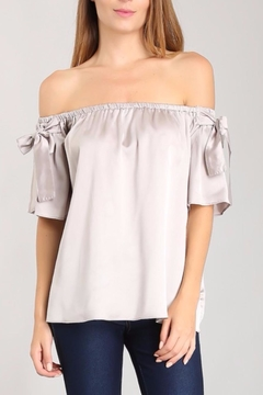 Shoptiques Product: Satin Bow Top
