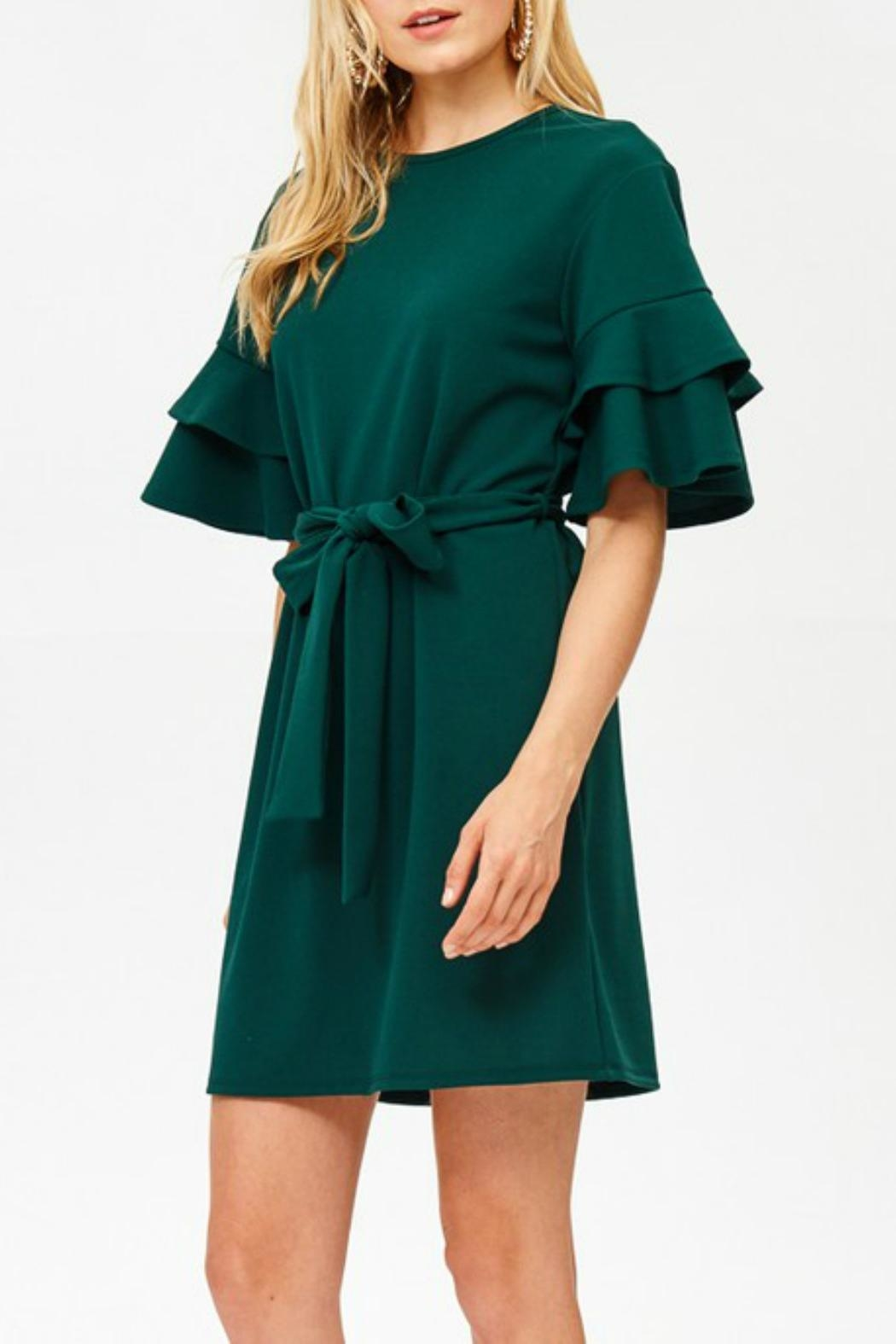 Labanga Hunter Ruffle Dress - Front Full Image