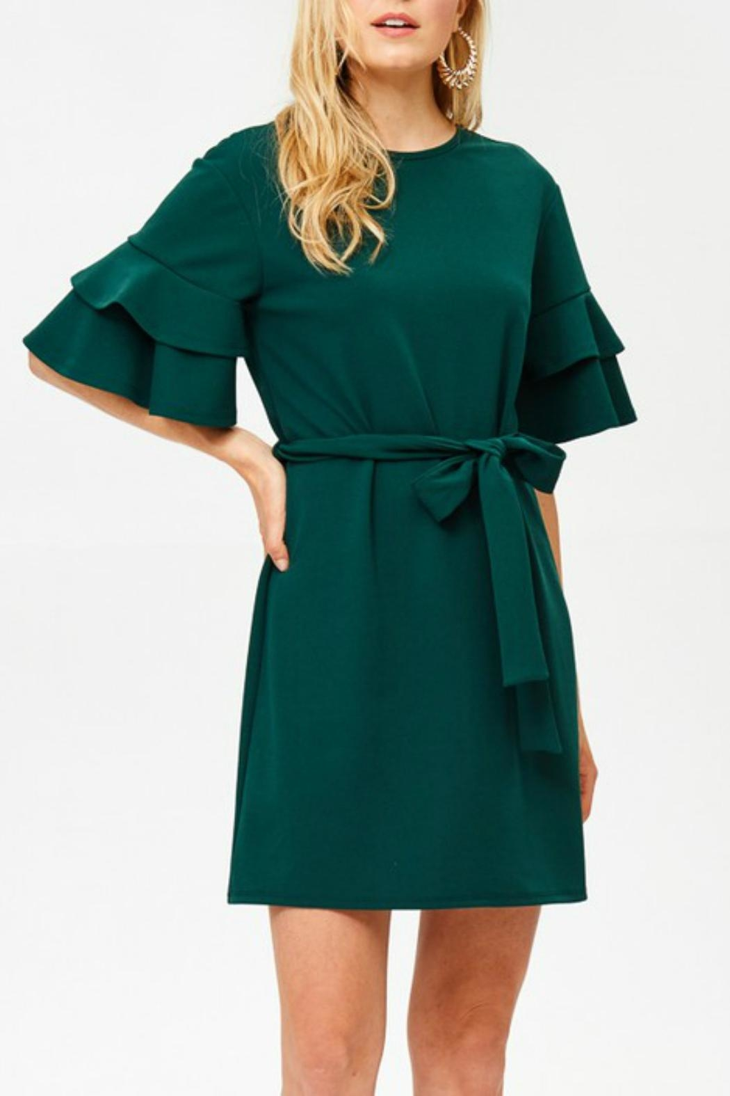 Labanga Hunter Ruffle Dress - Back Cropped Image