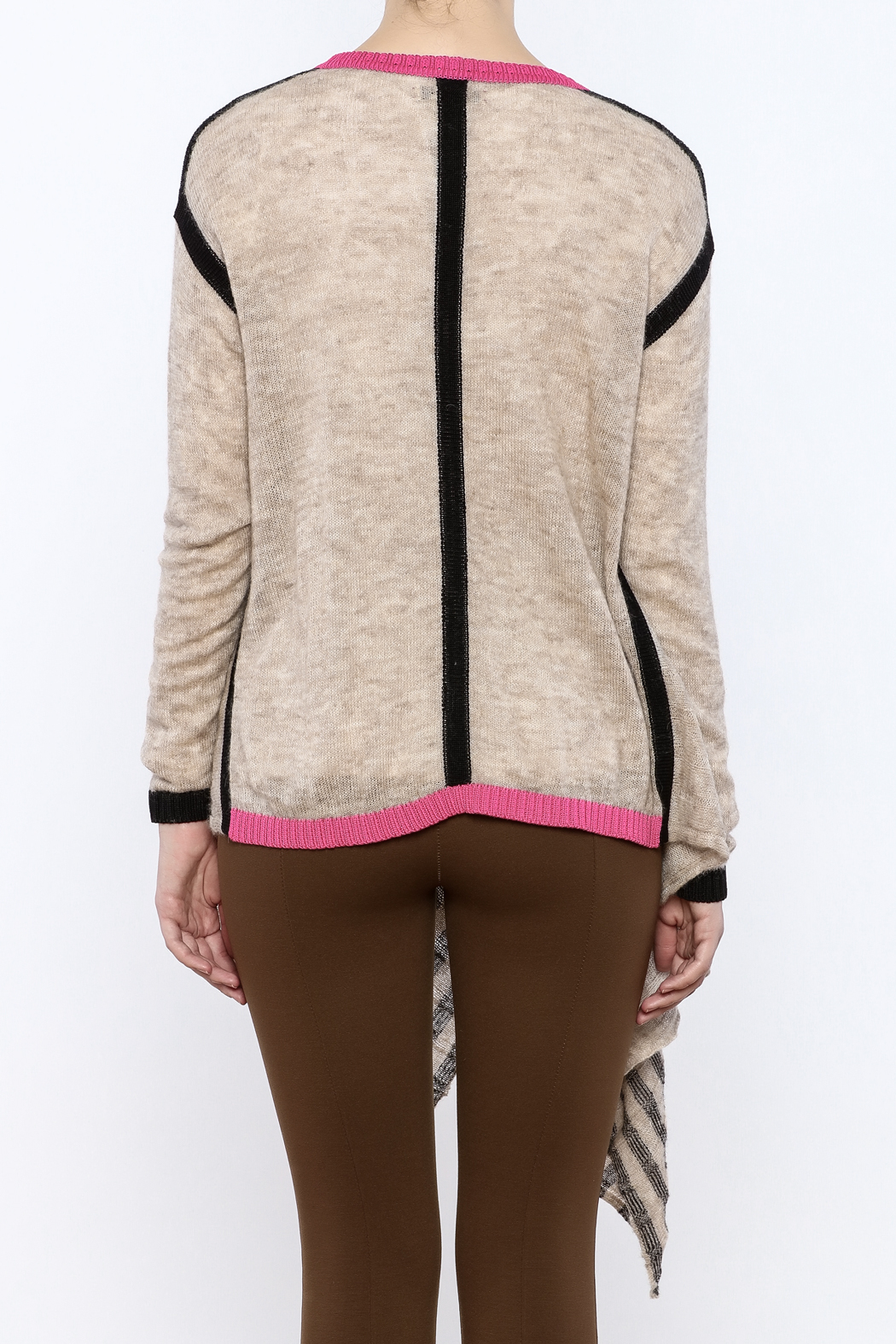 LABEL + thread Colorblock Cardigan - Back Cropped Image