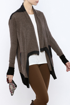 Shoptiques Product: Colorblock Draped Cardigan