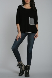 LABEL + thread Cashmere Crop Sweater - Product Mini Image