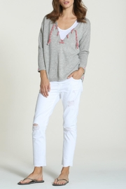 LABEL + thread Cashmere Tie Sweater - Side cropped