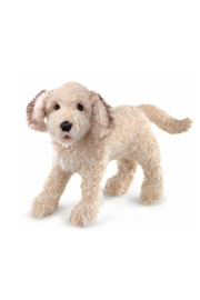 Folkmanis Labradoodle Hand Puppet - Front cropped