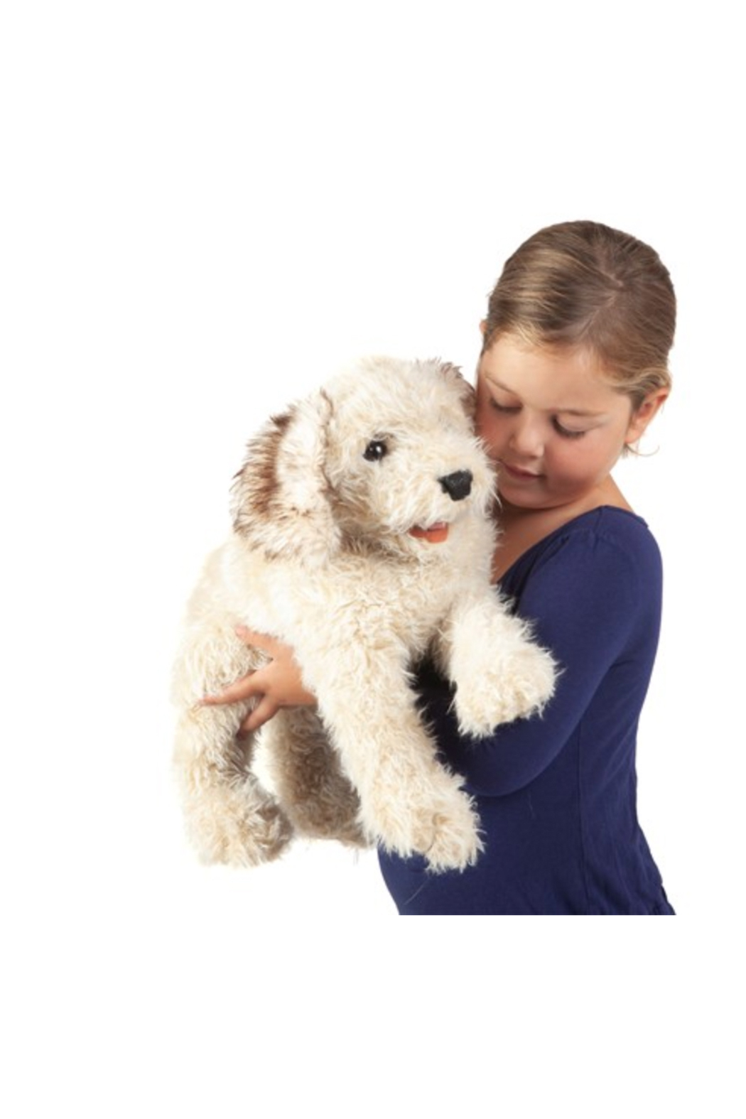 Folkmanis Labradoodle Hand Puppet - Side Cropped Image