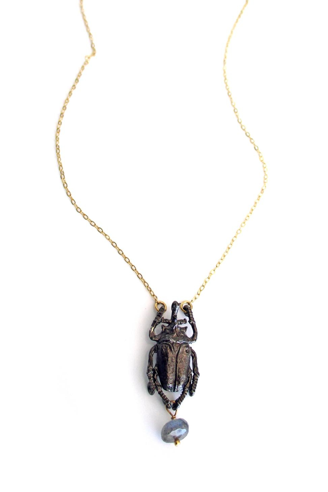 Malia Jewelry Labradorite Beetle Necklace - Main Image