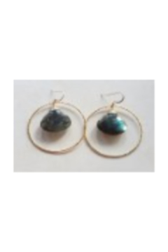 Shoptiques Product: Labradorite Earrings with Gold Hoops