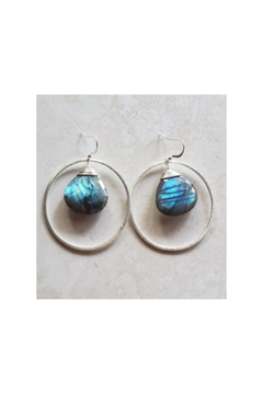 Shoptiques Product: Labradorite Earrings with Sterling Silver