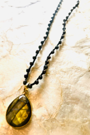 An Old Soul Jewelry Labradorite + Pearl Necklace - Product Mini Image