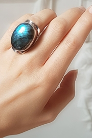 Crystal Earth Labradorite Ring - Product Mini Image