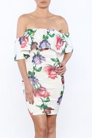 Lac Bleu Floral Off-Shoulder Dress - Product Mini Image