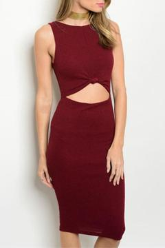 Shoptiques Product: Cranberry Bodycon Dress