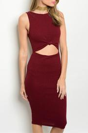 Lac Bleu Cranberry Bodycon Dress - Product Mini Image