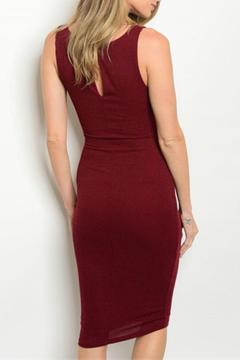 Lac Bleu Cranberry Bodycon Dress - Alternate List Image