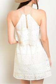 Lac Bleu Ivory Peach Dress - Front full body