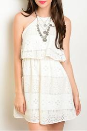 Lac Bleu Ivory Peach Dress - Product Mini Image