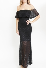 Lac Bleu Off Shoulder Lace Long Dress - Product Mini Image
