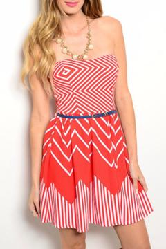 Lac Bleu Red Skater Dress - Product List Image