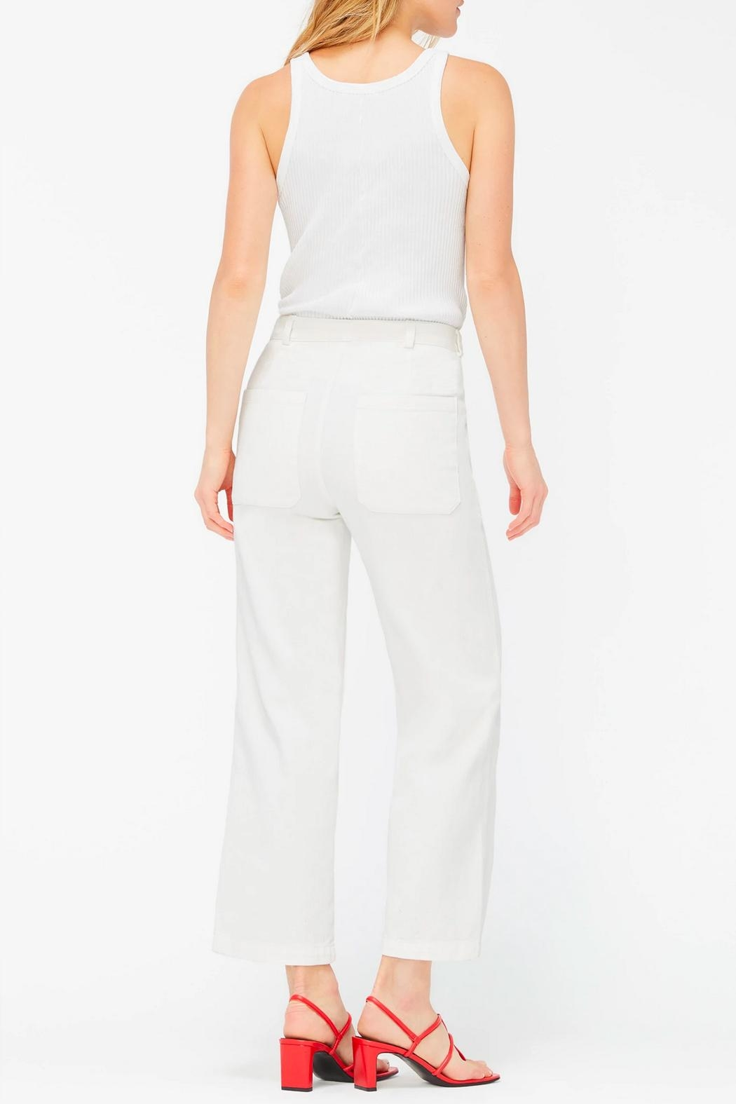 LACAUSA Arlo Cropped Trousers - Side Cropped Image