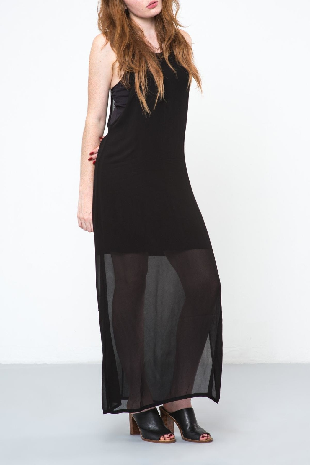 LACAUSA Black Echo Dress - Front Cropped Image