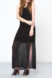 LACAUSA Black Echo Dress - Front full body