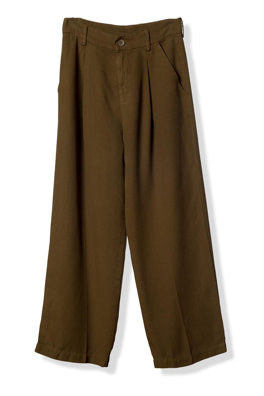 LACAUSA High-Waisted Cropped Trouser - Main Image