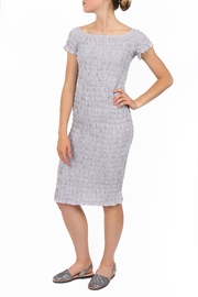 LACAUSA Lavender Smocked Dress - Product Mini Image