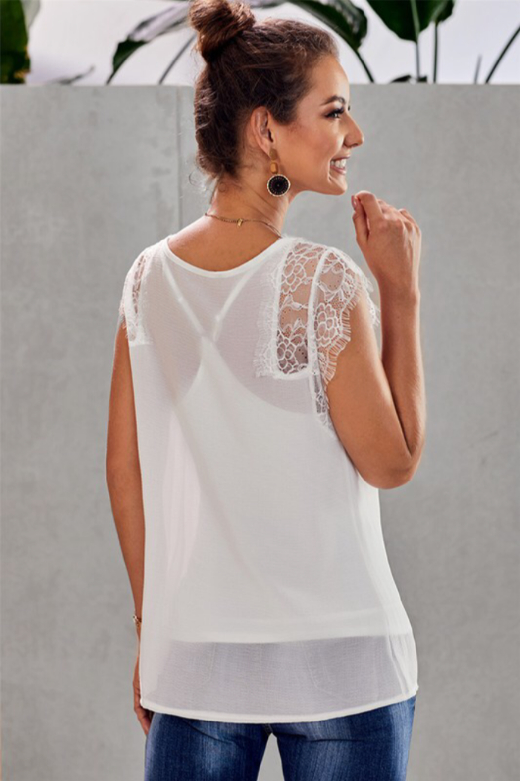 Shiying Fashion Lace 2 piece Top - Front Full Image