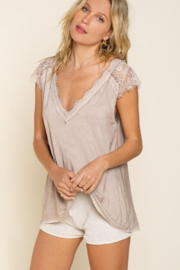 POL  Lace Accent Top - Product Mini Image