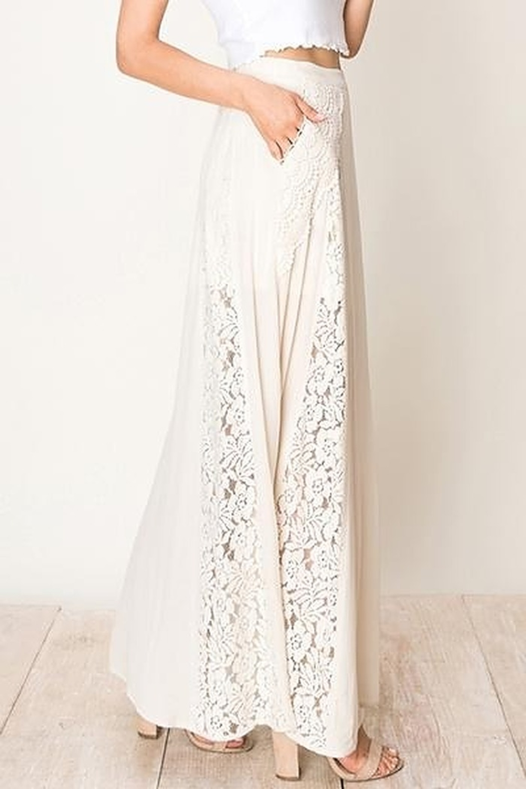HYFVE Lace And  Crochet A-Line Maxi Skirt - Front Full Image