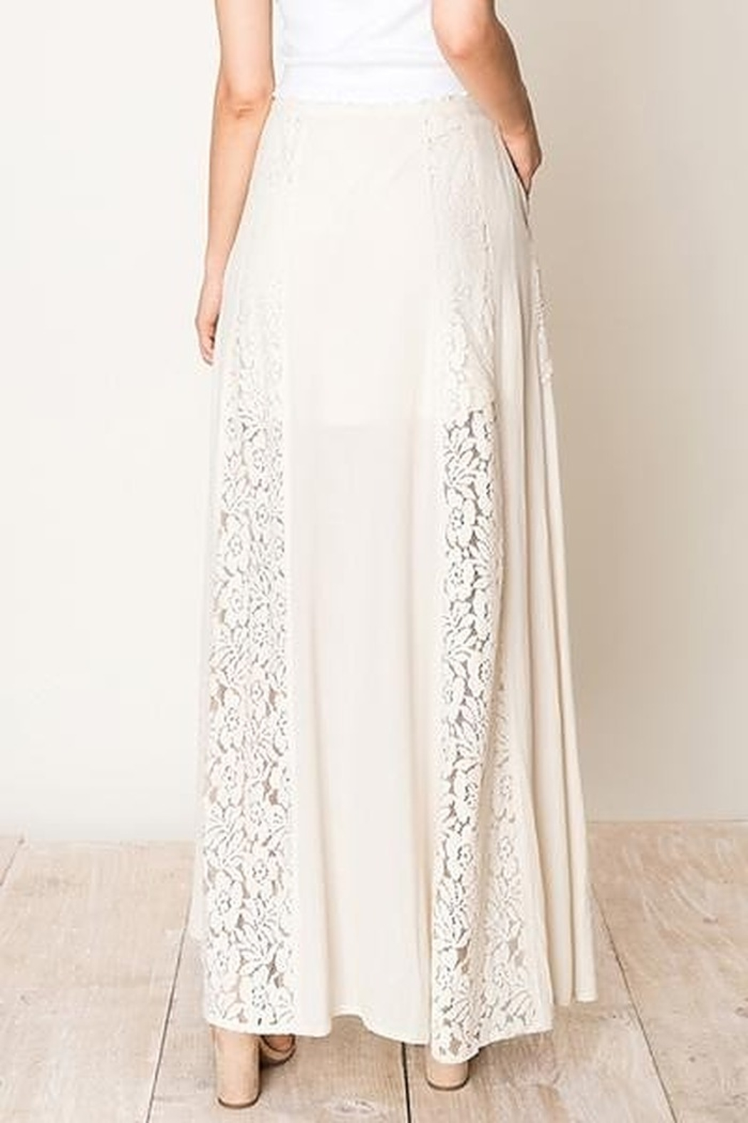HYFVE Lace And  Crochet A-Line Maxi Skirt - Side Cropped Image