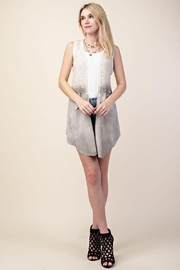 Vocal Lace and Suede Vest - Front cropped