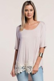 KORI AMERICA Lace Applique Tee - Product Mini Image