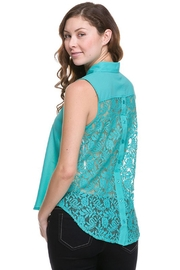 ambiance apparel Lace Back Blouse - Product Mini Image