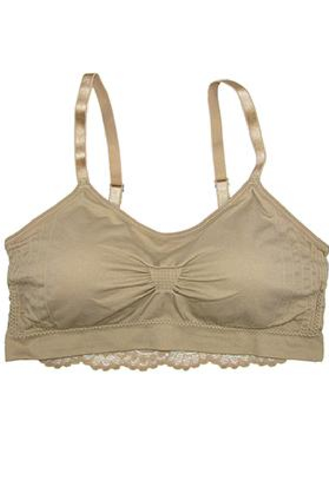 Coobie Lace back bralette - Front Cropped Image