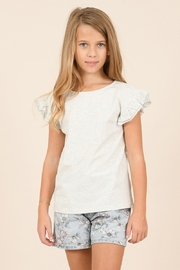 Mini Molly Lace Back Ruffle Sleeve Top - Product Mini Image