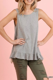 Umgee USA Lace-Back Ruffle Tank - Front full body