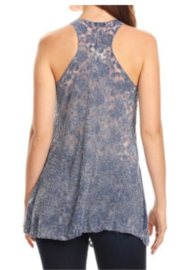 T-Party  Lace Back Soft Knit Sleeveless Top - Front full body