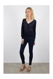 Molly Bracken Lace Back Sweater - Front cropped