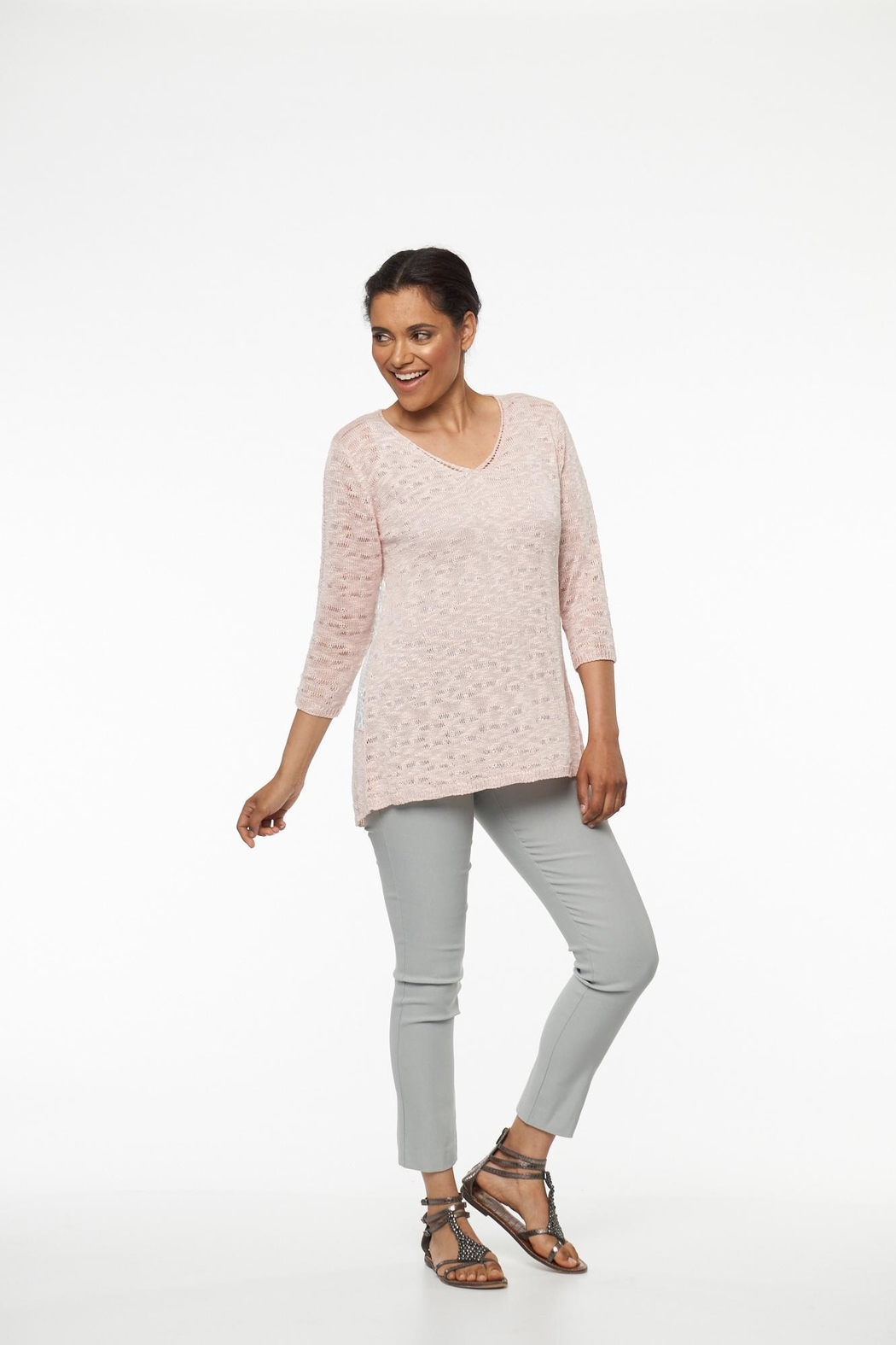 Parkhurst Lace Back Sweater - Front Full Image