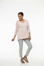 Parkhurst Lace Back Sweater - Front full body