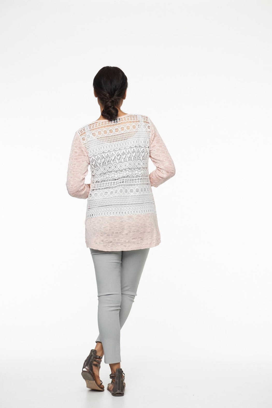 Parkhurst Lace Back Sweater - Side Cropped Image