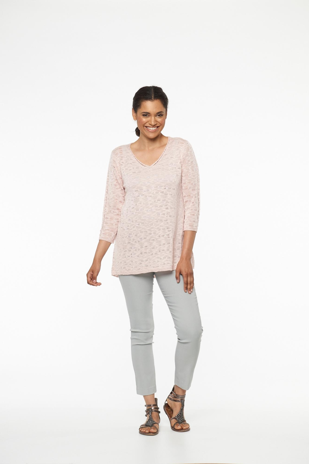 Parkhurst Lace Back Sweater - Front Cropped Image