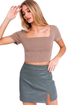 Le Lis Lace Back Sweater Top - Product List Image