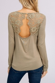 Listicle Lace Back Top - Product Mini Image