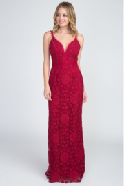 Minuet Lace Backless Gown - Product Mini Image