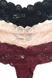 Anemone Lace Band Thong - Front full body